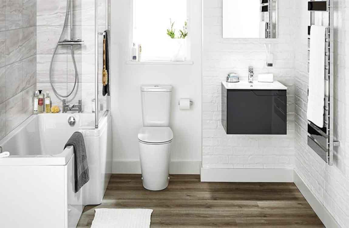 Admirable Beautiful And Clean Coexist Bathroom Floor Tile Selection Interior Design Ideas Jittwwsoteloinfo