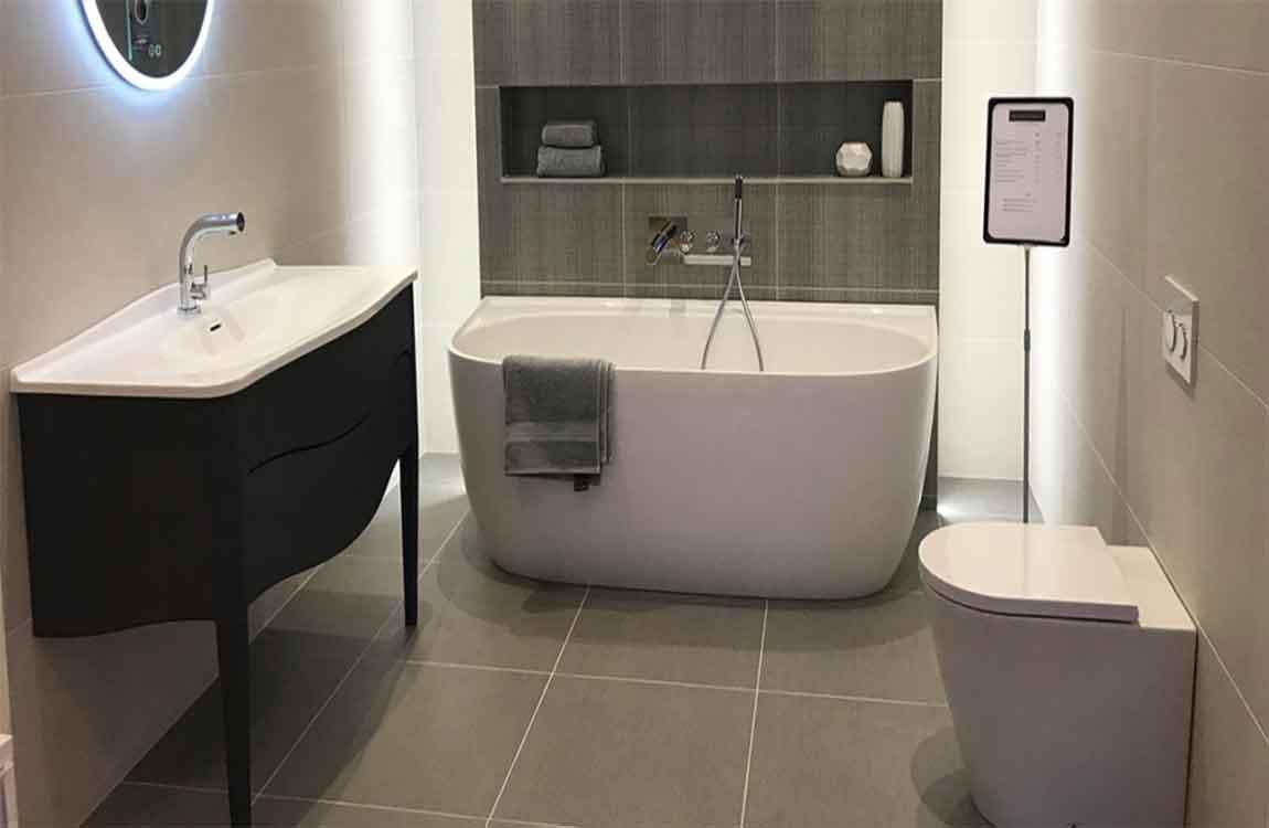 Beautiful And Clean Coexist Bathroom Floor Tile Selection Purchase Skills 7 Jpg