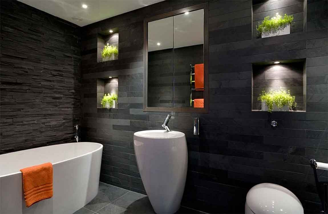 Swell How To Using Black Paint In A Bathroom Barana Sanitary Wares Home Interior And Landscaping Ferensignezvosmurscom