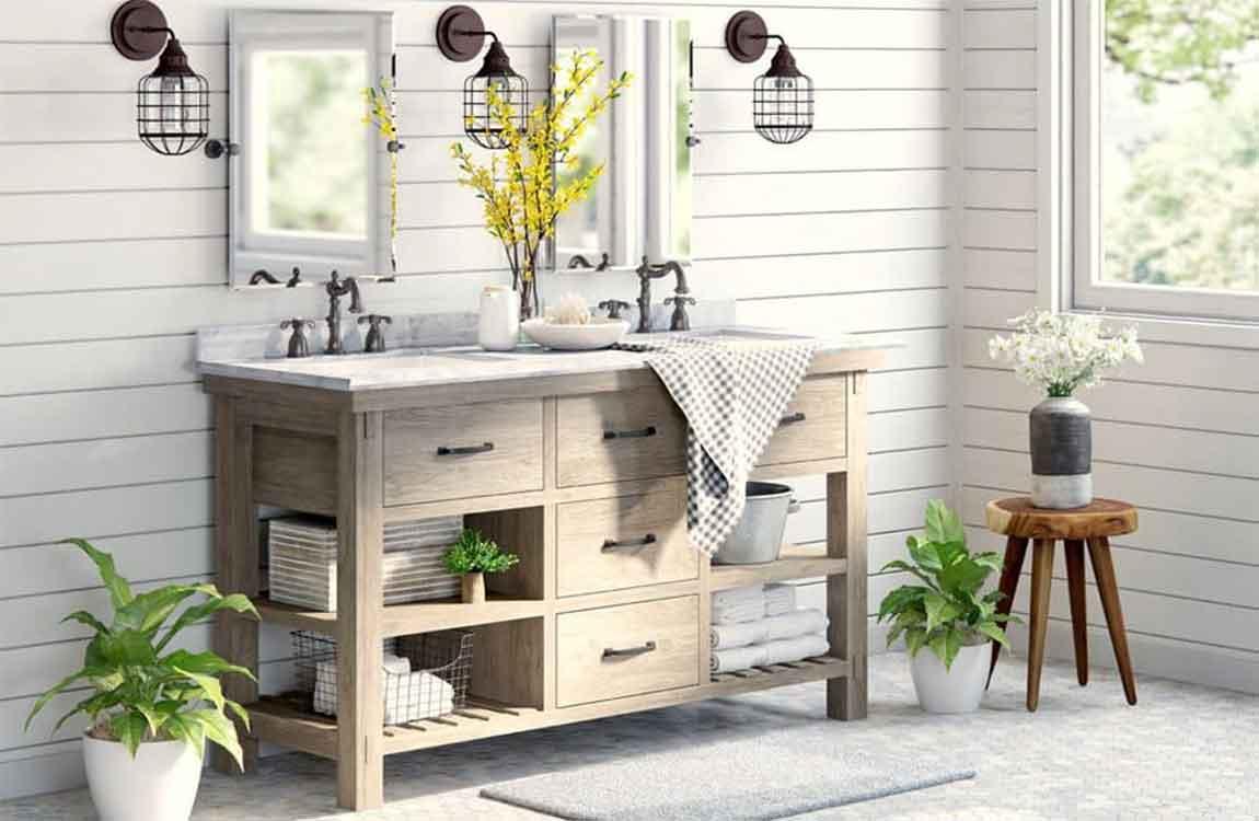 How To Adding Bathroom Elements Create A Farmhouse Style